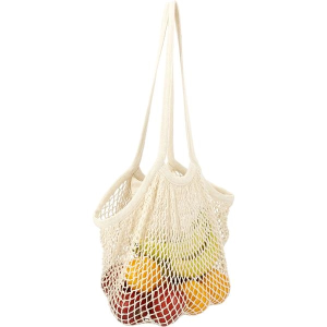 Riviera Cotton Mesh Market Bag With Zippered Pouch